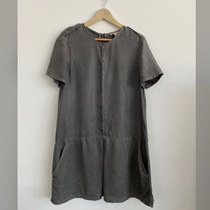 💯Auth 🇬🇧Burberry Brit Drop Waist Silk Dress